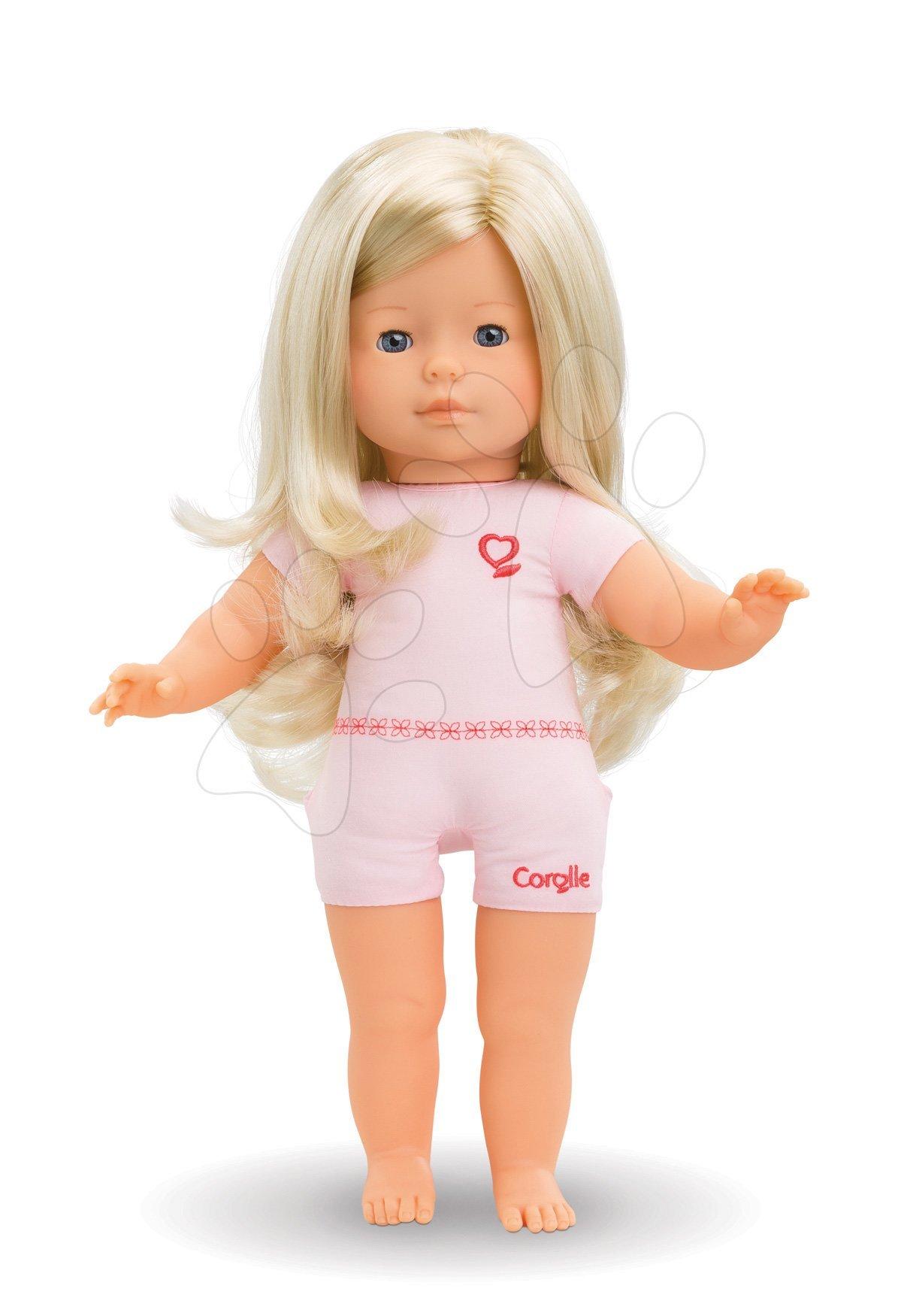 Bábika na obliekanie Paloma Ma Corolle dlhé blond vlasy a modré klipkajúce oči 36 cm od 4 rokov