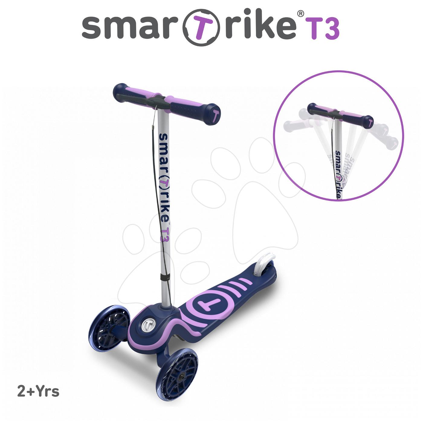 Trotinetă T3 smarTrike cu sistem T-lock mov de la 24 luni