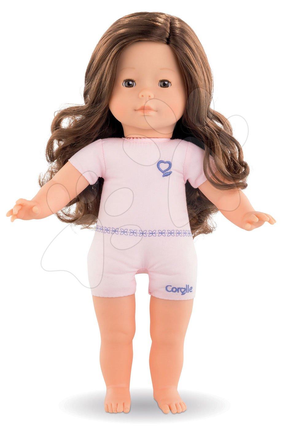 Panenka na oblékání Pénélope Ma Corolle dlouhé hnědé vlasy a hnědé mrkající oči 36 cm od 4 let