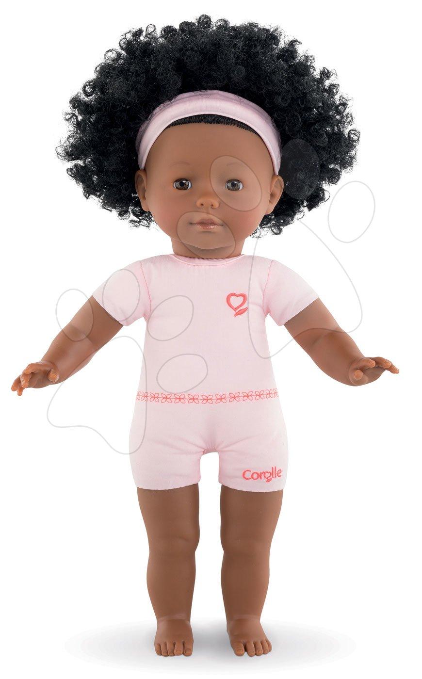 Bábika na obliekanie Pauline Ma Corolle kučeravé čierne vlasy a hnedé klipkajúce oči 36 cm od 4 rokov
