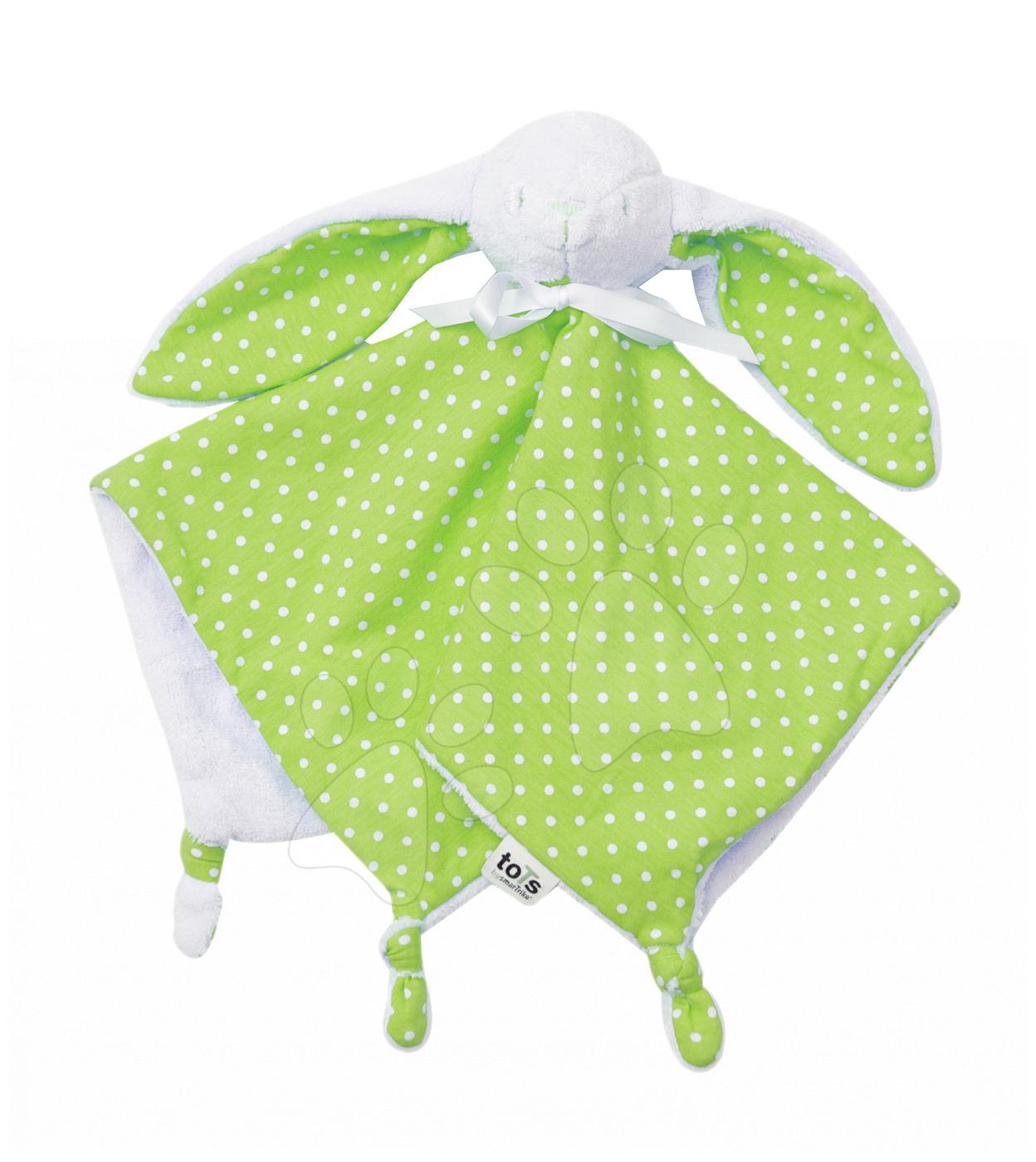 Zajíček na mazlení pro nejmenší Joy toTs-smarTrike 100% jersey bavlna zelený