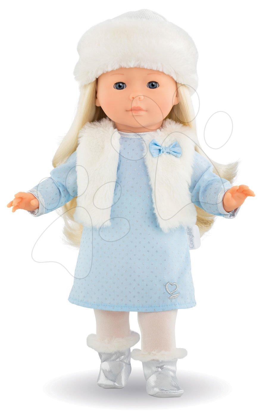 Bábika Priscille Ma Corolle bledomodré šaty a modré klipkajúce oči 36 cm - Špeciálna edícia od 4 rokov