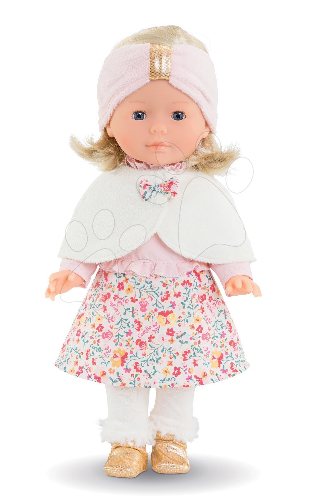 Panenky od 4 let - Panenka s pelerínou Ma Corolle Priscille Blossom Winter Corolle s modrýma očima 36 cm – limitovaná edice od 4 let