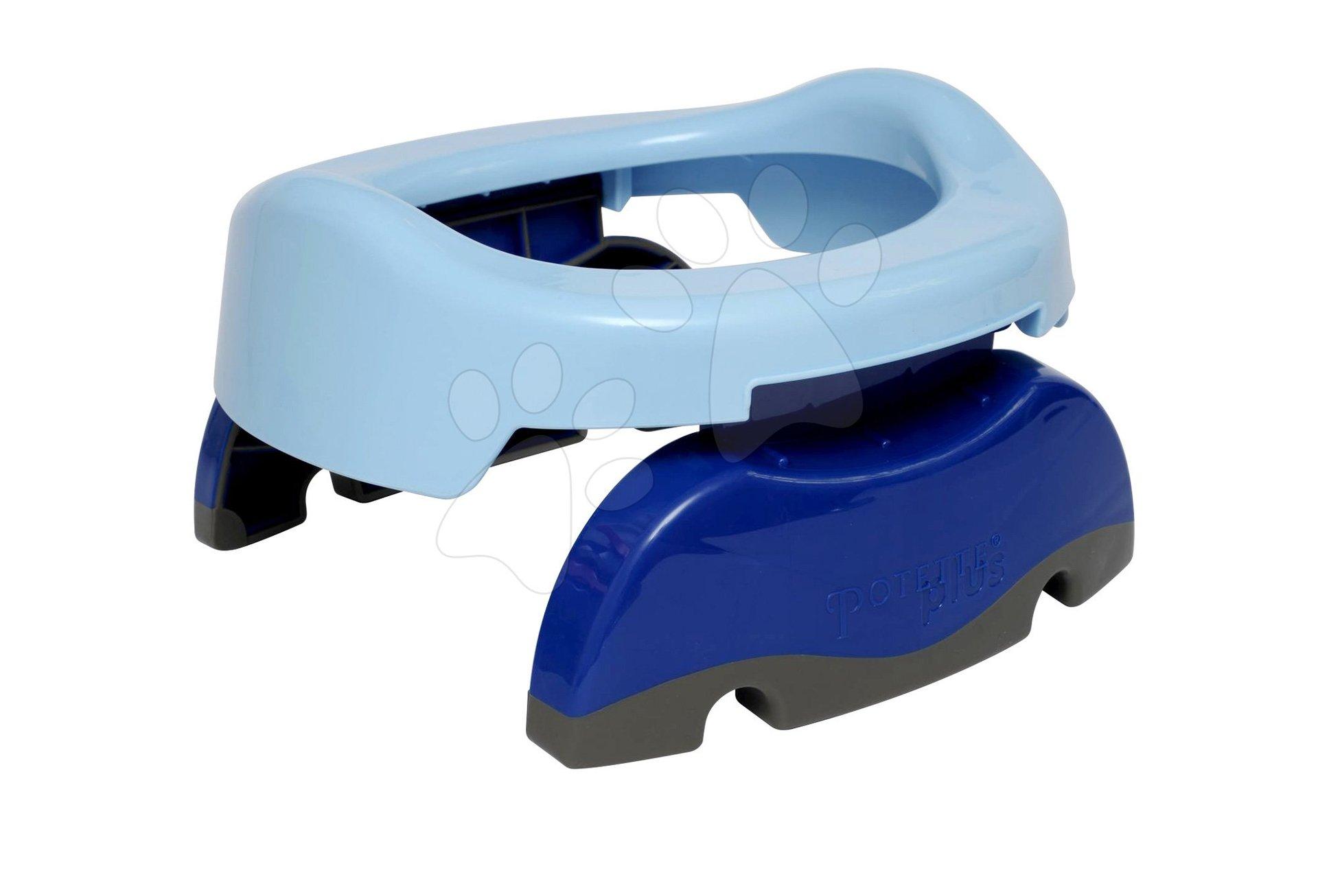 Cestovní nočník/redukce na WC Potette Plus modrý od 15 měsíců