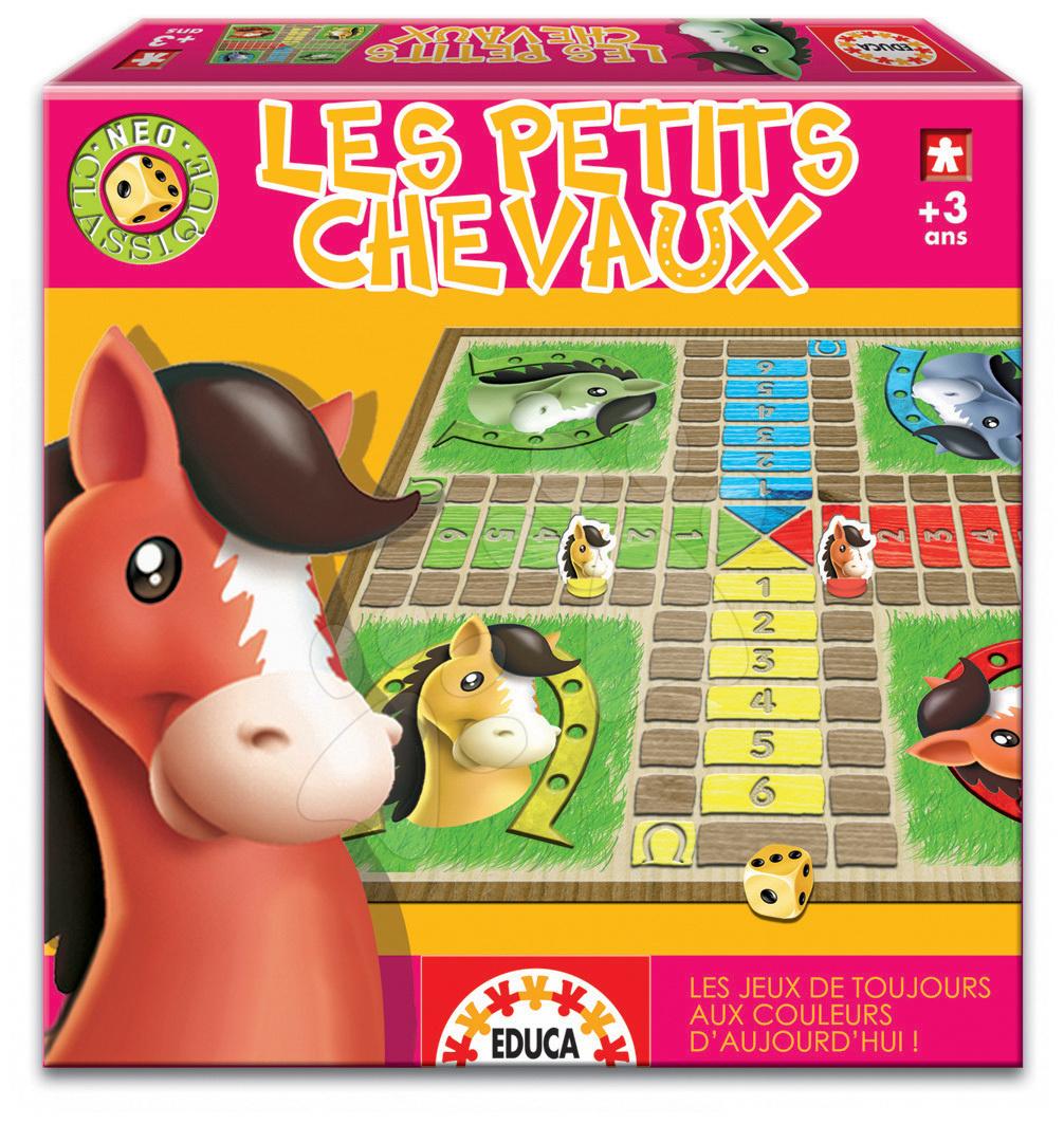 Cudzojazyčné spoločenské hry - Spoločenská hra Les Petits Chevaux Educa vo francúzštine