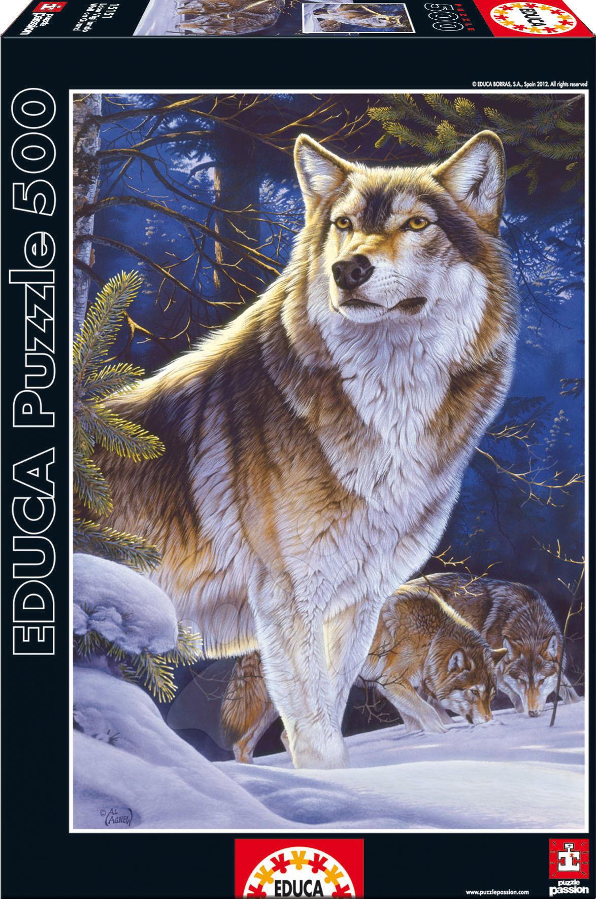 Puzzle Genuine Vlk na stráži Educa 500 dielov od 11 rokov