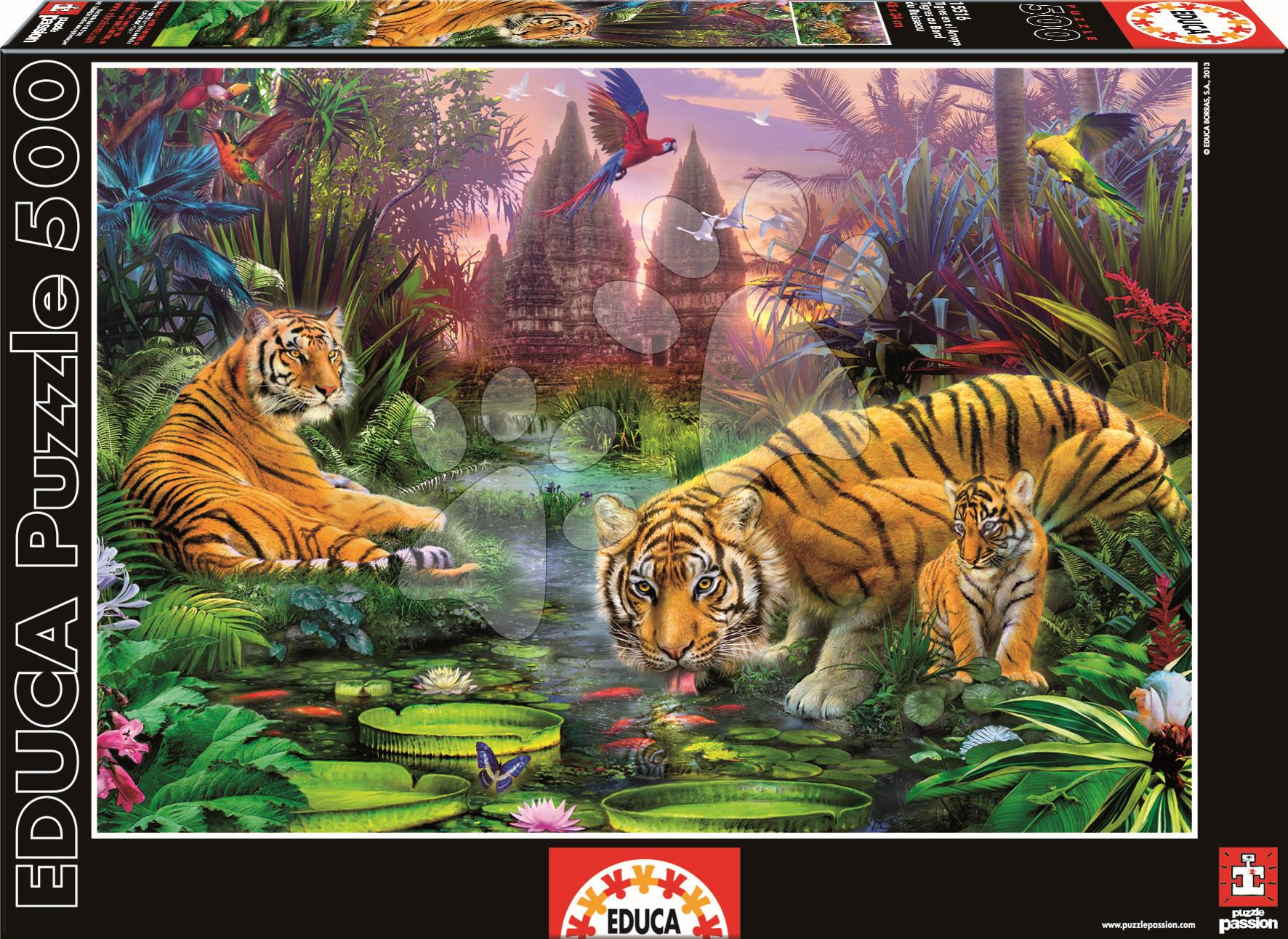 Puzzle Genuine Tigre Educa 500 dielov od 11 rokov