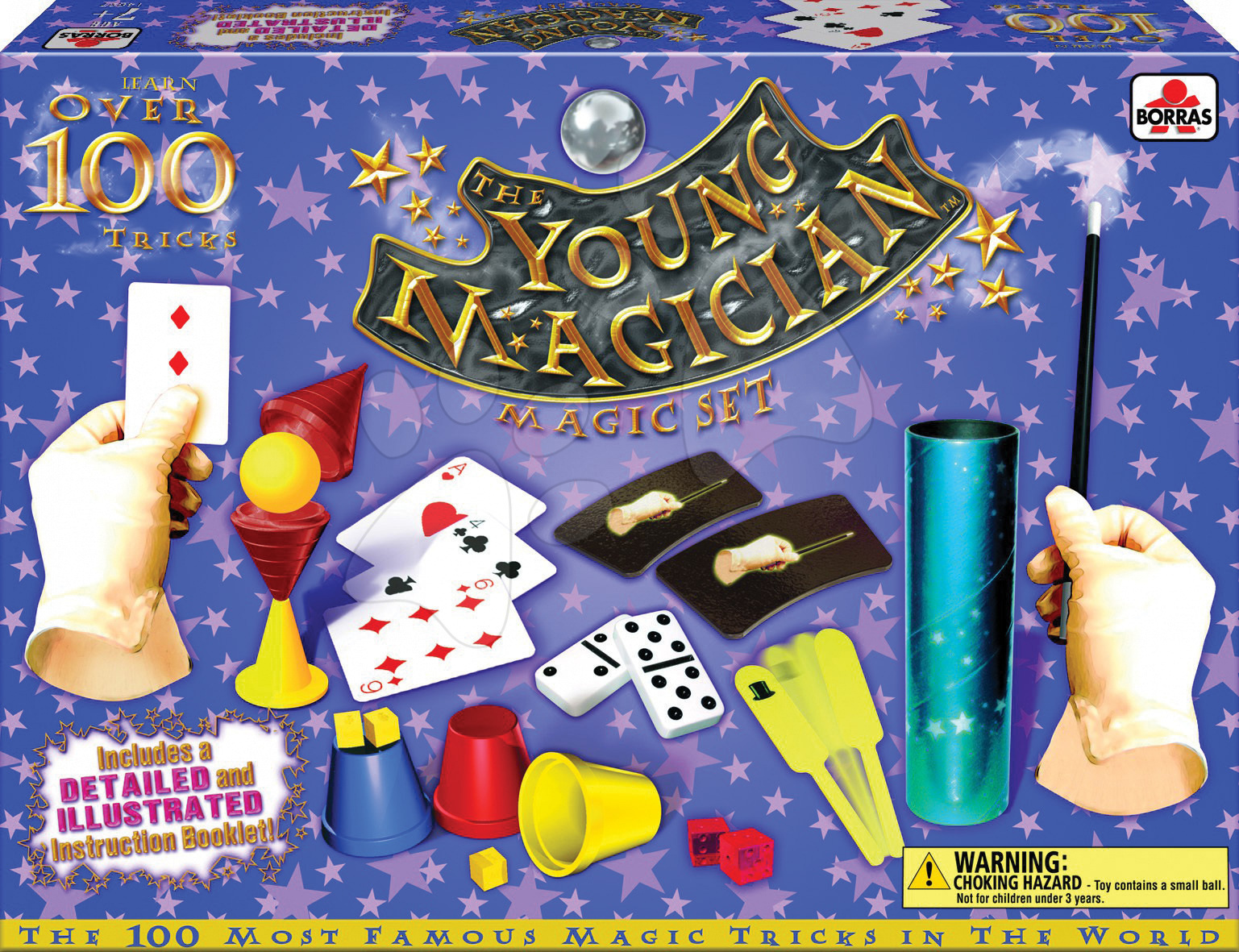 Cudzojazyčné spoločenské hry - Sada 100 kúzelníckych hier a trikov Magia Borras Educa v angličtine od 6 rokov