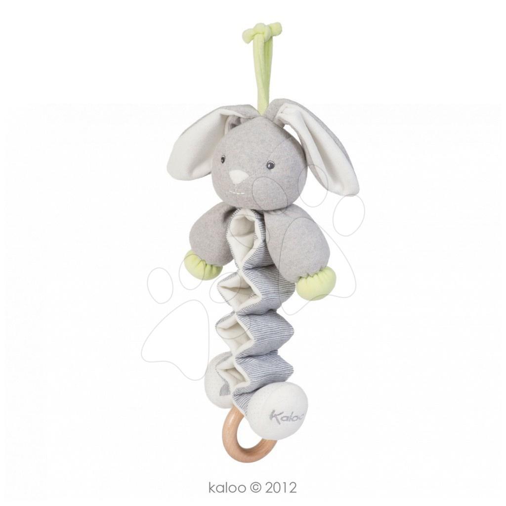Hračky nad postieľku - Plyšový zajačik Zen-Zig Kaloo spievajúci naťahovací 25-40 cm v darčekovom balení pre najmenších