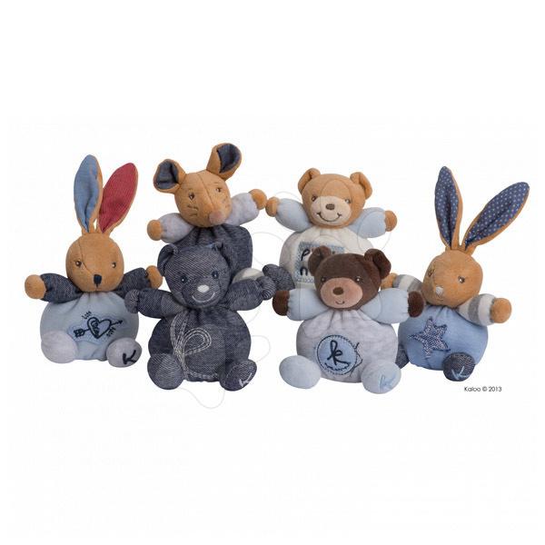 Plyšové zvieratká - Jemné plyšové zvieratká BLUE DENIM - MINI CHUBBIES Kaloo 12 cm modré v luxusnom prevedení