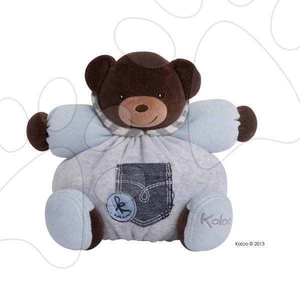 Plyšové medvede - Plyšový medvedík Blue Denim-Chubby Bear Kaloo 25 cm v darčekovom balení pre najmenších modrý