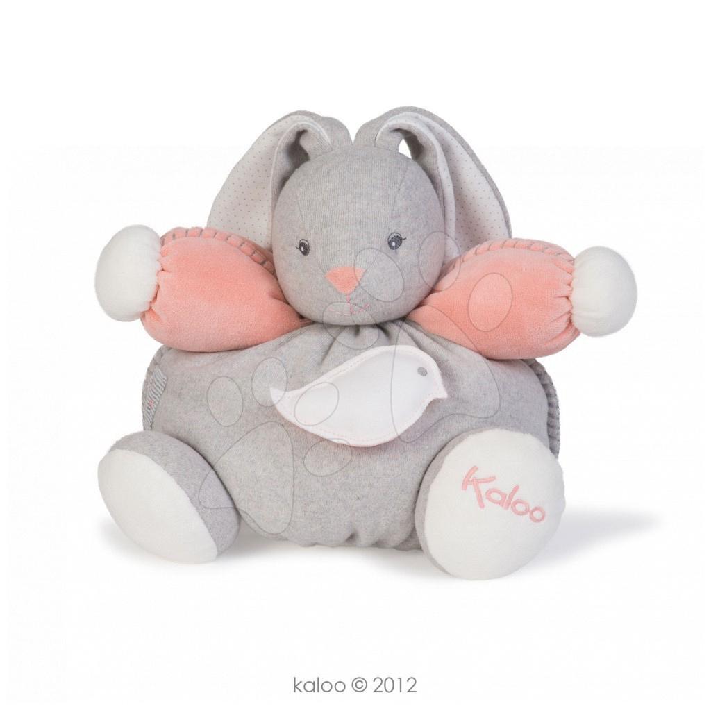 Plyšový králíček Zen-Chubby Rabbit Kaloo s chrastítkem 30 cm v dárkovém balení pro nejmenší šedý