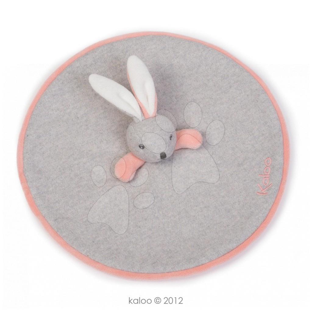Hračky na maznanie a usínanie - Plyšový zajačik na maznanie Zen-Doudou Kaloo 20 cm v darčekovom balení pre najmenších sivý