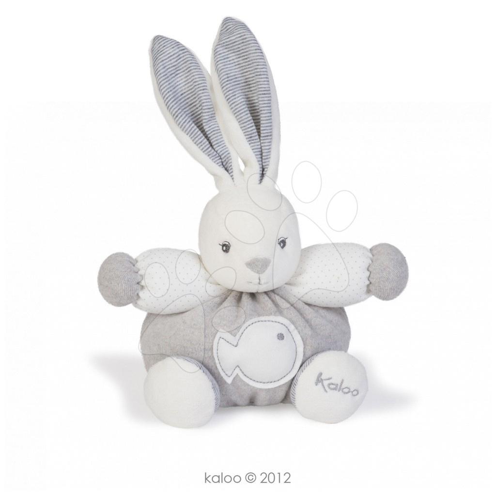 Plyšové zajace - Plyšový zajačik Zen-Chubby Rabbit Kaloo 18 cm v darčekovom balení pre najmenších biely