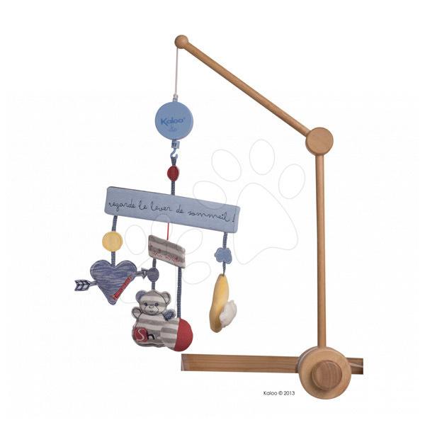Kolotoče nad postieľku - Kolotoč nad postieľku Blue Denim-Musical Mobile Kaloo hudobný 35 cm v darčekovom balení pre najmenších