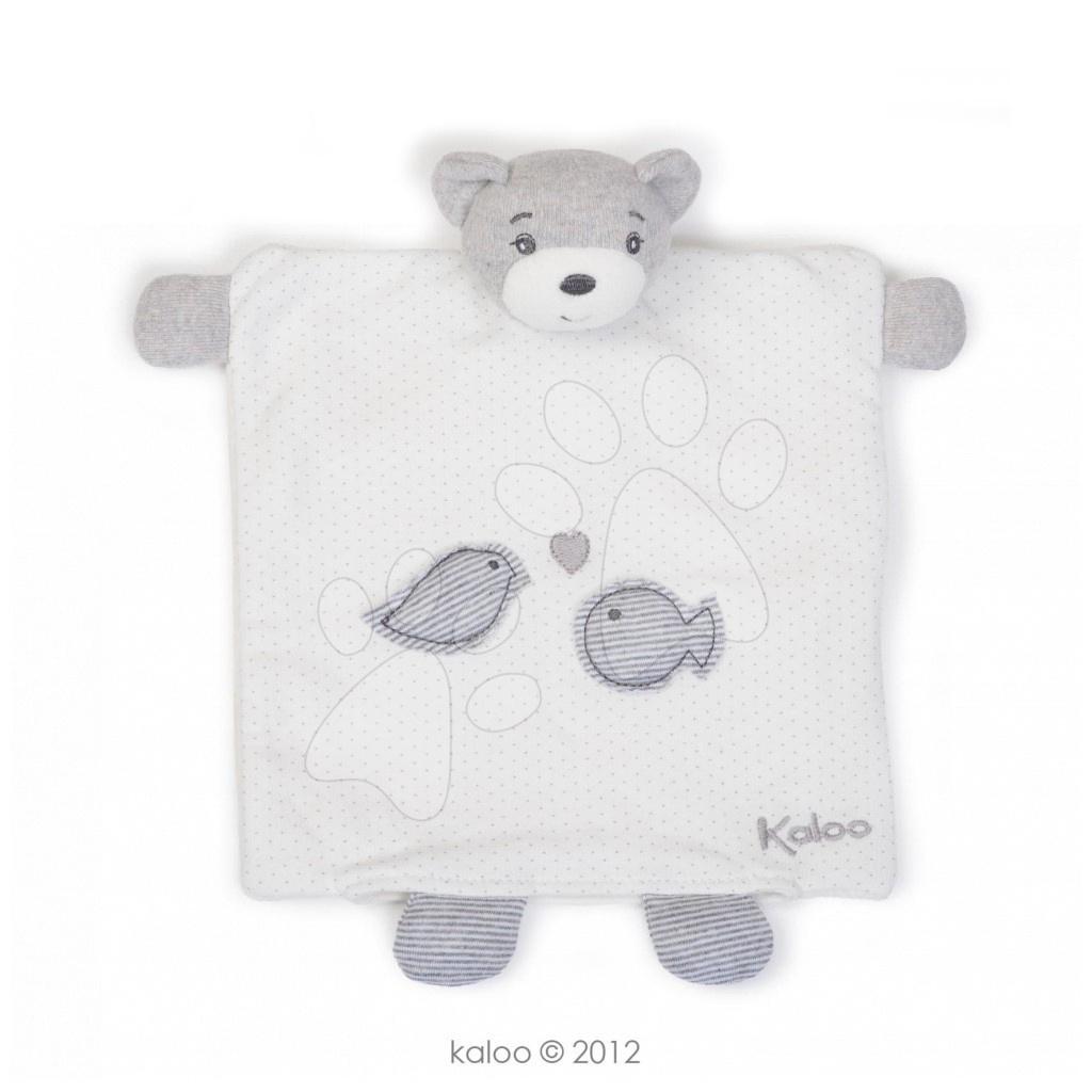 Plyšový medvídek loutkové divadlo Zen-Doudou Kaloo loutka 20 cm v dárkovém balení pro nejmenší bílý