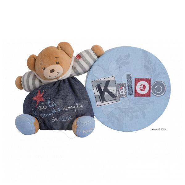 Plyšové medvede - Plyšový medvedík Blue Denim-Happy Chubby Bear Kaloo 25 cm v darčekovom balení pre najmenších