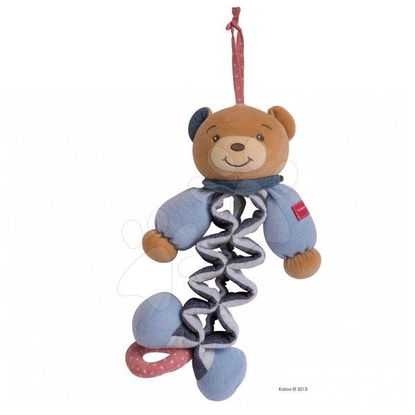Hračky nad postieľku - Plyšový medvedík Blue Denim-Zig Kaloo spievajúci naťahovací 25-40 cm v darčekovom balení pre najmenších