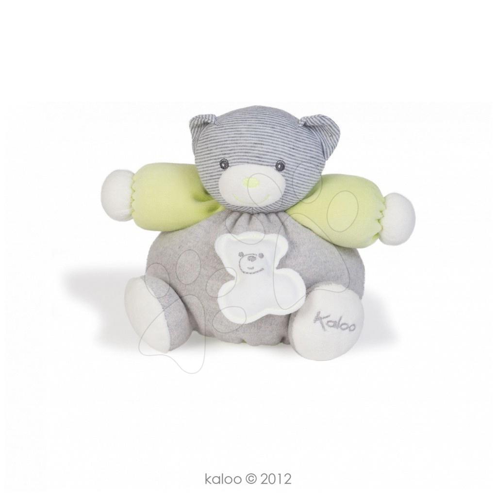 Plyšové medvede - Plyšový medvedík Zen-Chubby Bear Kaloo 18 cm v darčekovom balení pre najmenších sivo-zelený