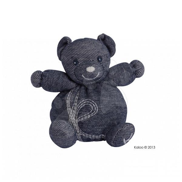 Plyšové medvede - Plyšový medvedík Blue Denim Kaloo 12 cm pre najmenších modrý
