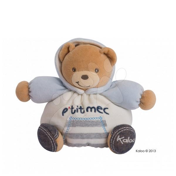 Plyšové medvede - Plyšový medvedík Blue Denim-Chubby Bear Kaloo 18 cm v darčekovom balení pre najmenších modrý