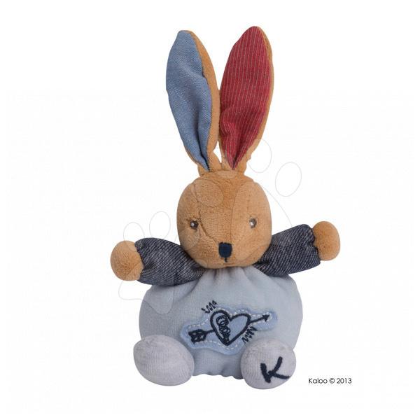 Plyšový králíček Blue Denim-Mini Chubbies Kaloo 12 cm pro nejmenší modrý