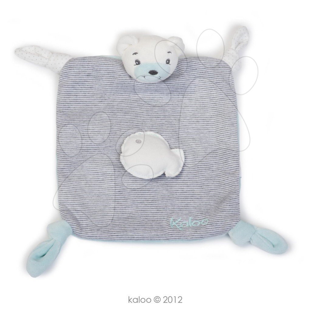 Plyšový medvídek na mazlení Zen-Doudou Kaloo 20 cm v dárkovém balení pro nejmenší šedý