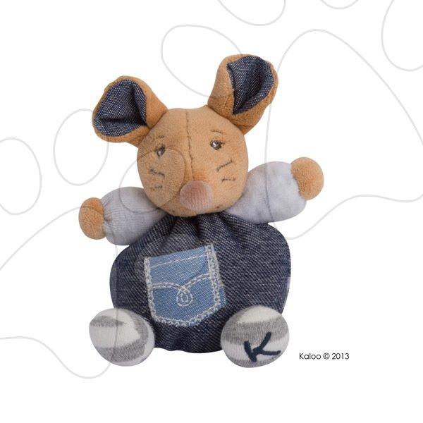 Plyšová myška Blue Denim-Mini Chubbies Kaloo 12 cm pro nejmenší modrá