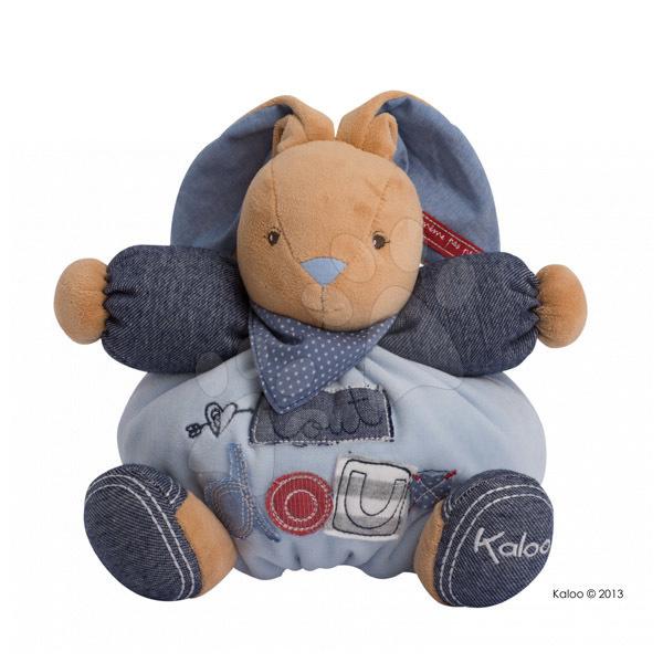Plyšový zajačik Blue Denim-Chubby Rabbit Kaloo 25 cm v darčekovom balení pre najmenších modrý
