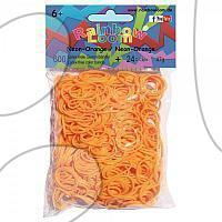 Rainbow Loom gumičky neonové - Rainbow Loom originálne gumičky 600 kusov neónovo oranžové od 6 rokov