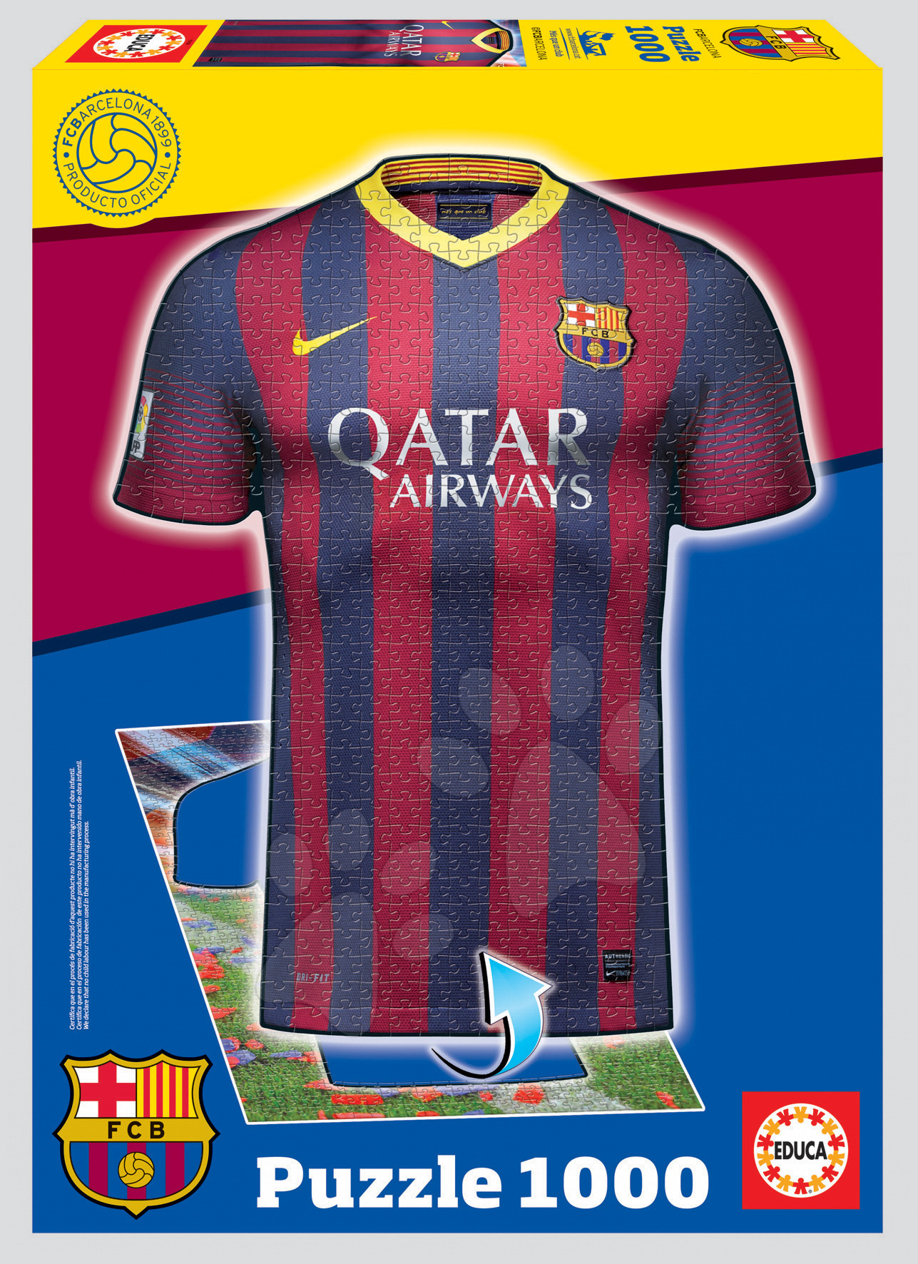 Puzzle 1000 dielne - Puzzle FC Barcelona Educa 1000 dielov od 12 rokov