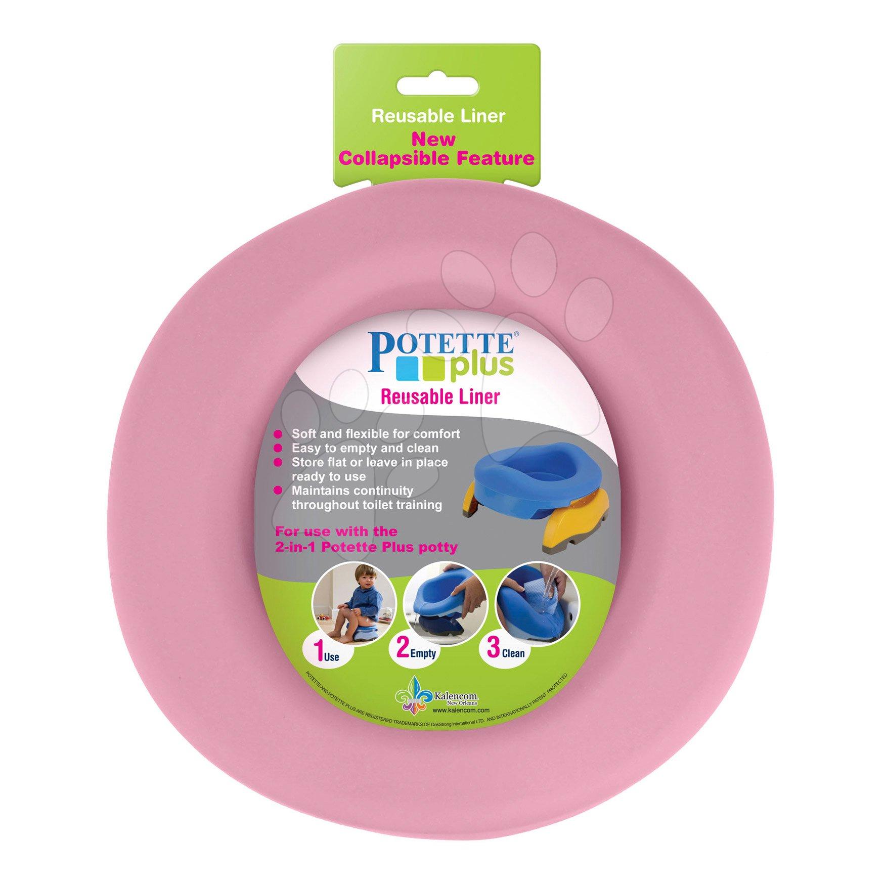Nočníky a redukcie na toaletu - Vložka do detského nočníka Potette Plus gumená ružová