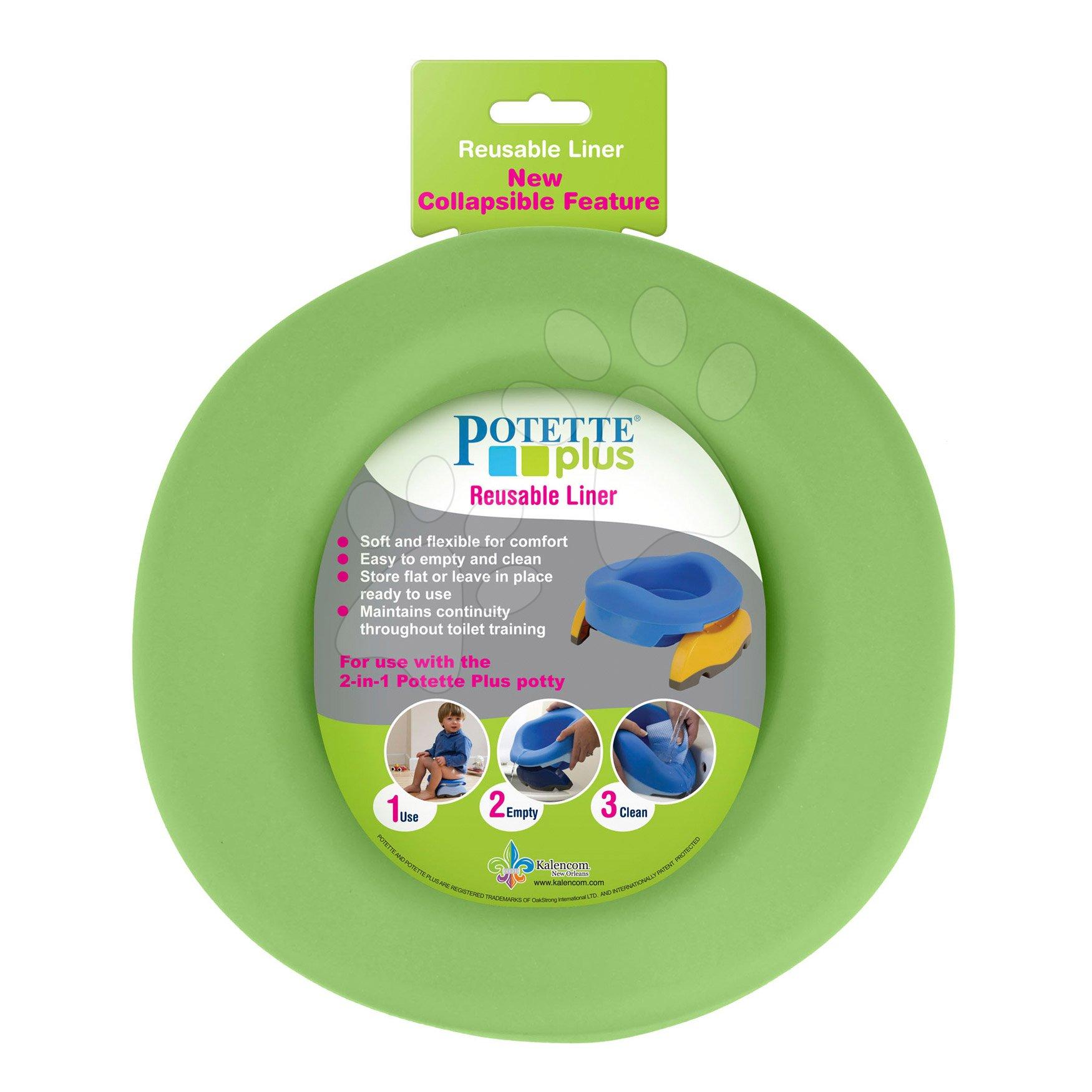 Nočníky a redukcie na toaletu - Vložka do detského nočníka Potette Plus 2in1 gumená zelená