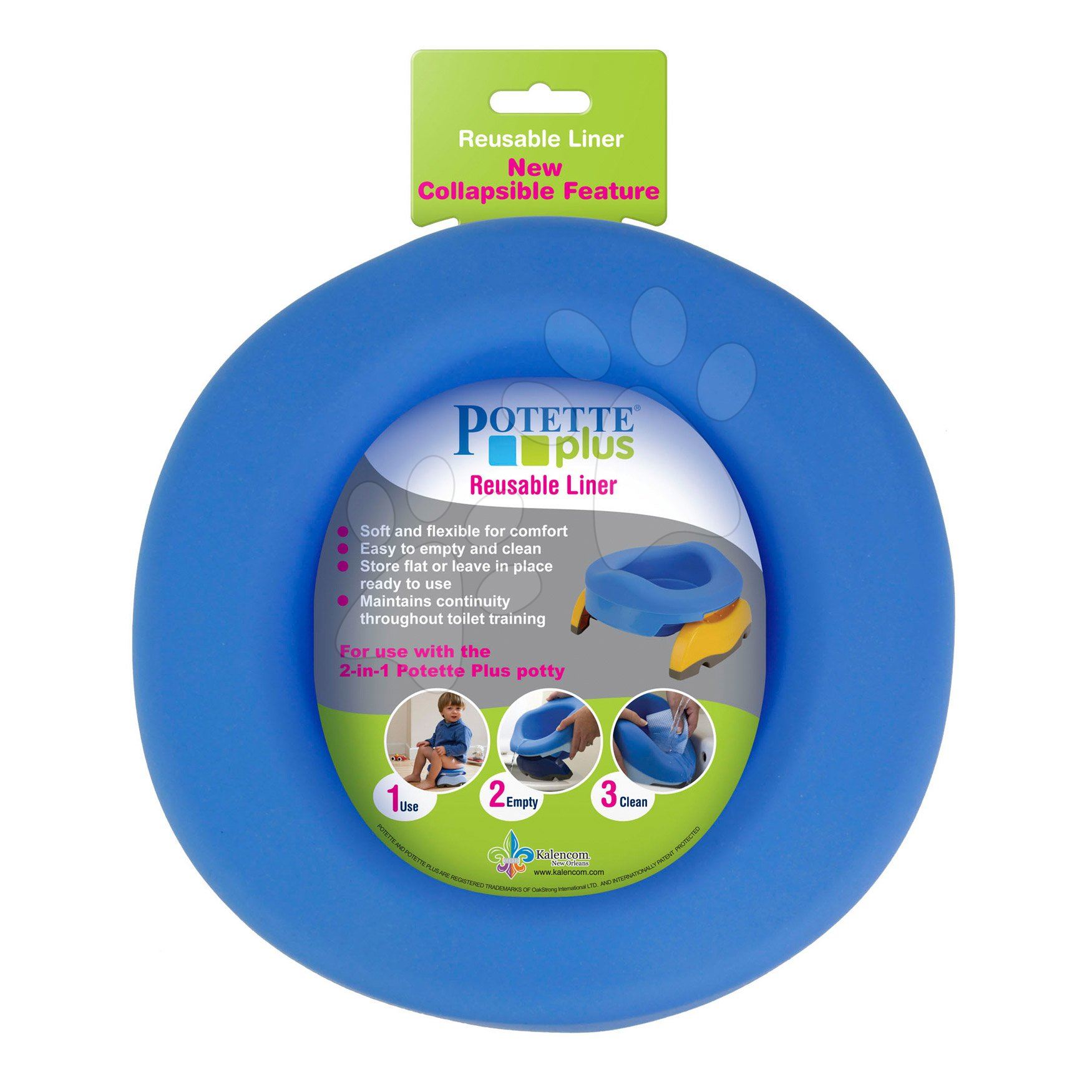 Nočníky a redukcie na toaletu - Vložka do detského nočníka Potette Plus gumená modrá