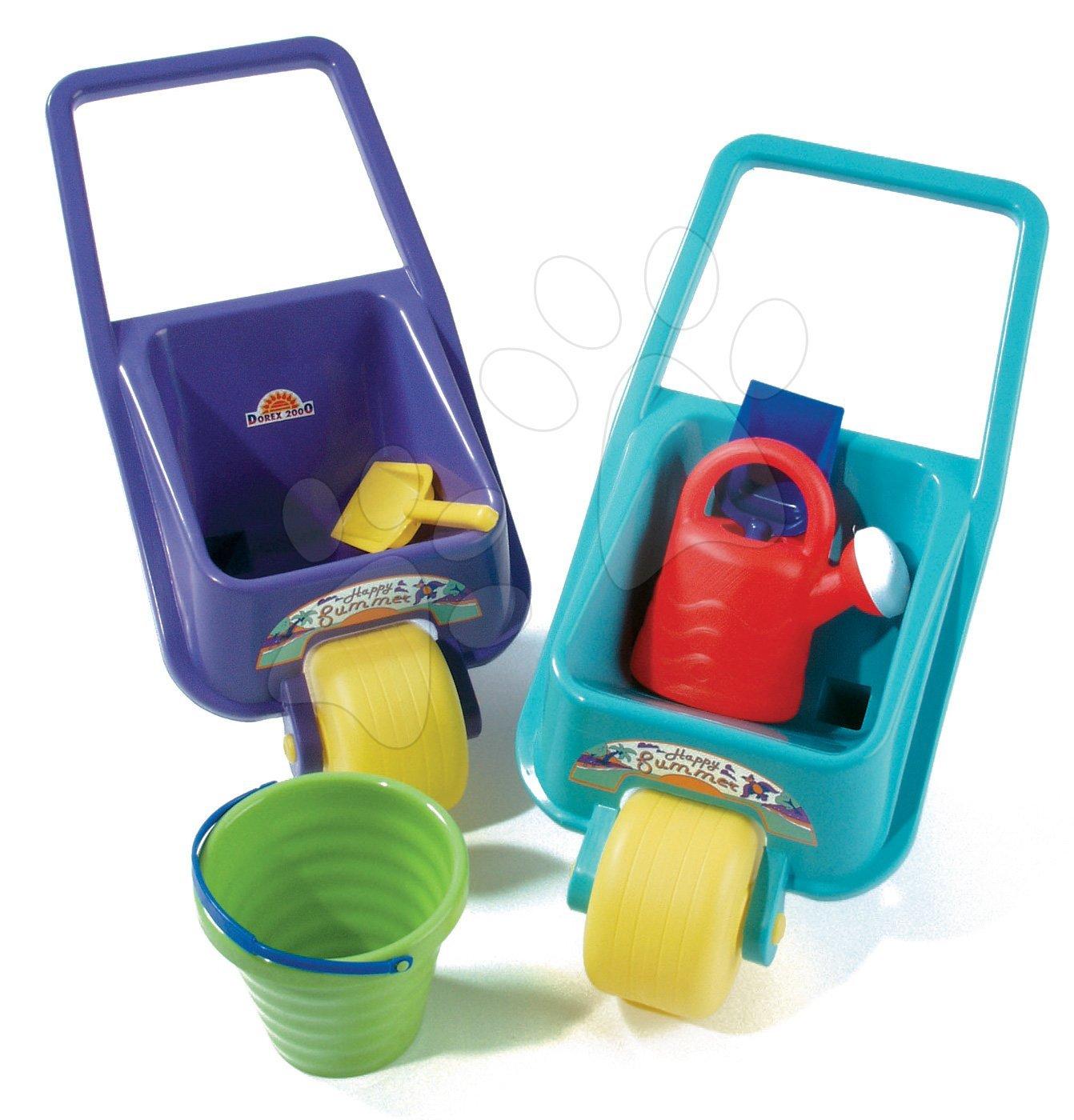 Kolečko s kbelík setem a konví Baby Dohány modré/tyrkysové