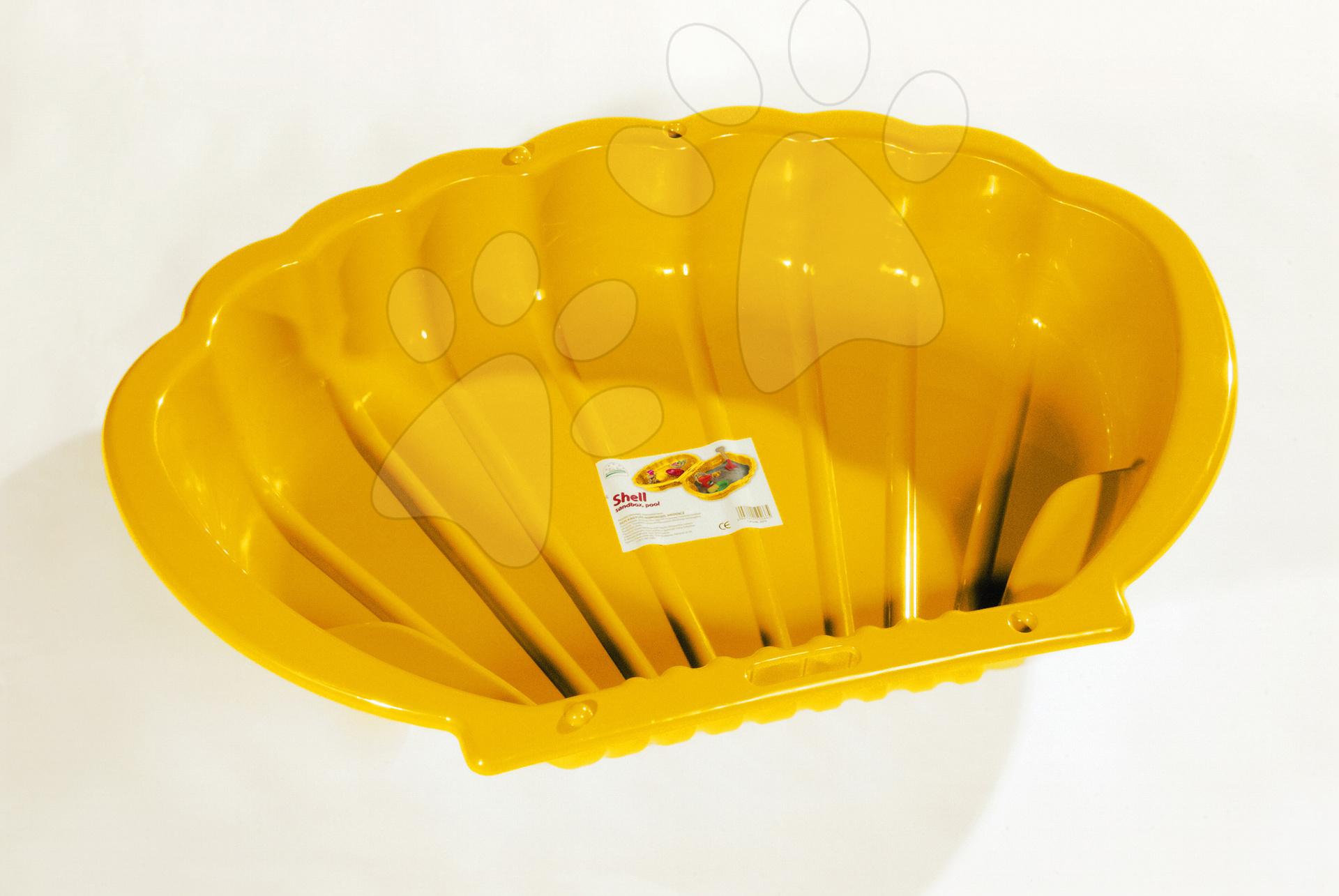 Pieskoviská pre deti - Pieskovisko Mušľa Dohány objem 112 litrov 109*78 cm žlté od 24 mes