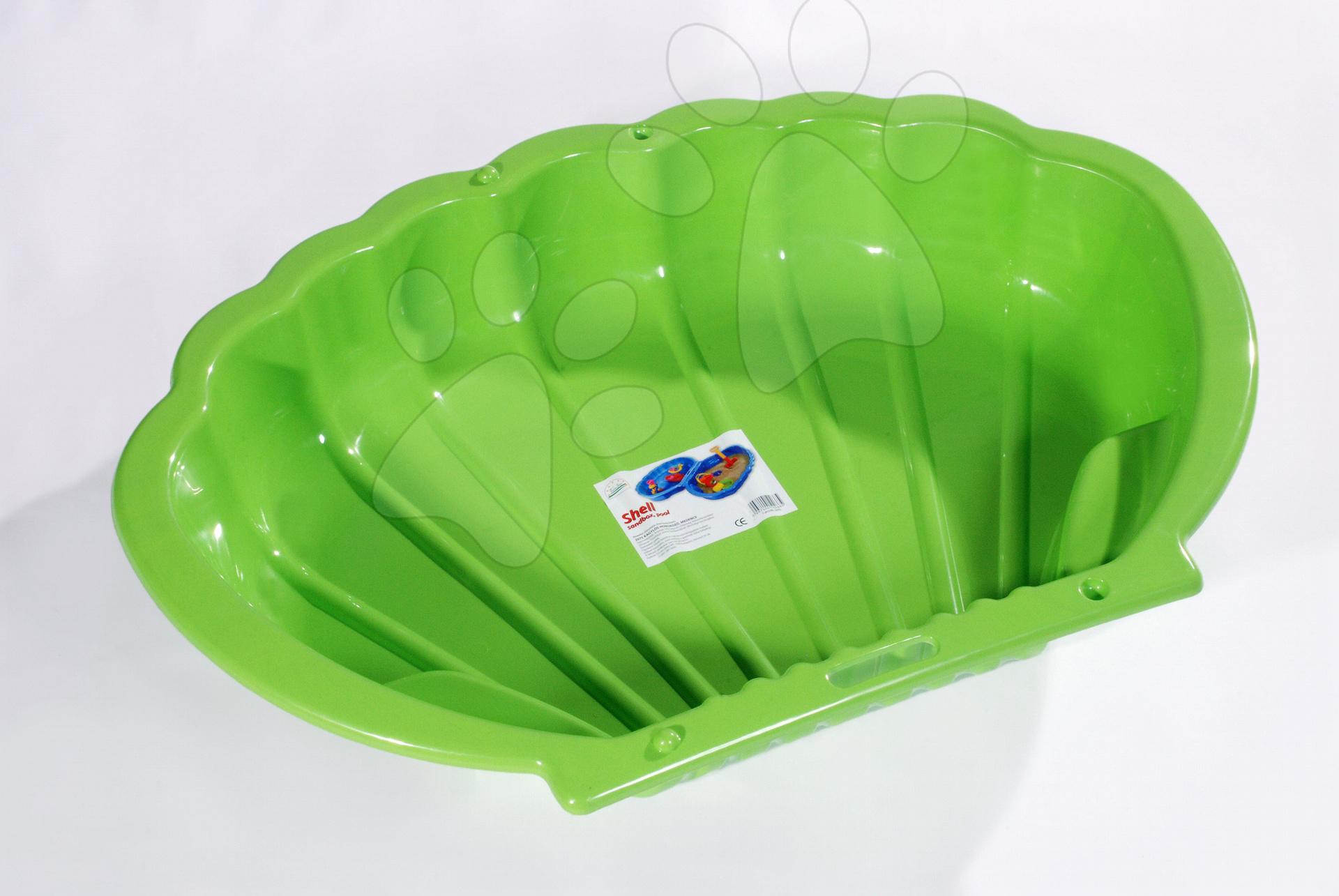 Pieskoviská pre deti - Pieskovisko Mušľa Dohány objem 112 litrov 109*78 cm zelené od 24 mes