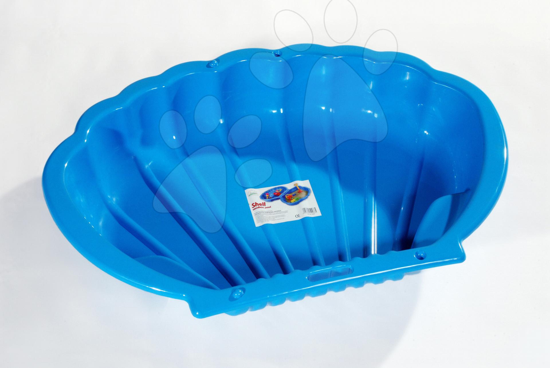 Pískoviště Mušle Dohány objem 112 litrů 109*78 cm modré od 24 měsíců