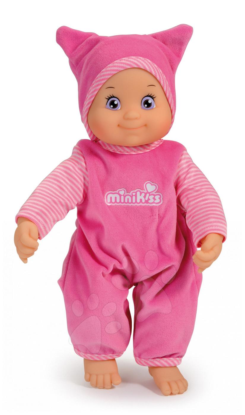 Smoby zvuková bábika Minikiss v čiapočke 210114 ružová