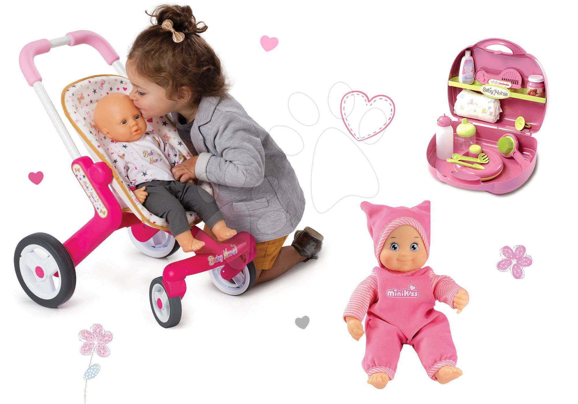 Smoby bábika Minikiss s prebaľovacím setom a kočiarikom 210114-4