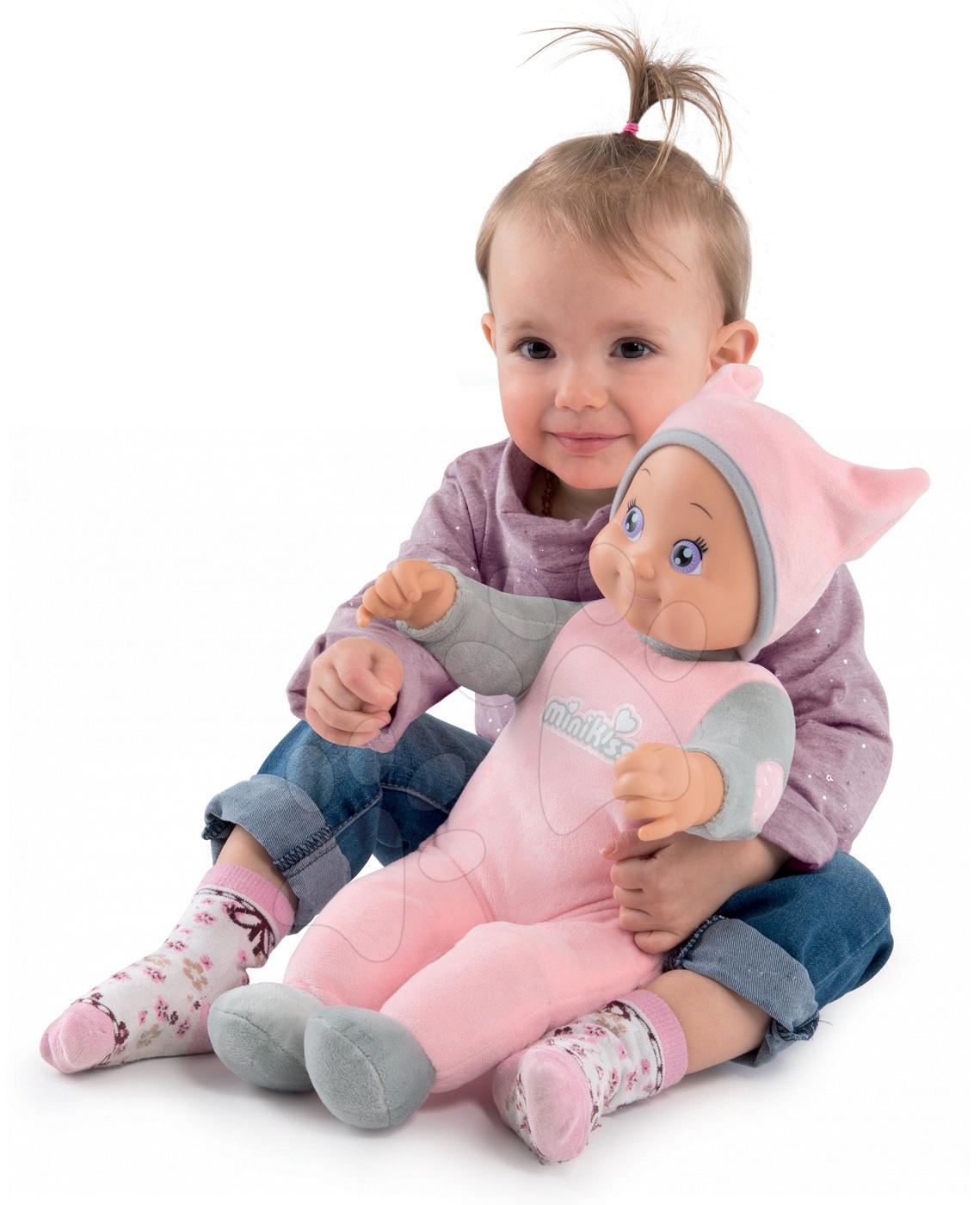 Bábika Maxi Doll Minikiss Smoby 45 cm so zvukom ružová od 12 mes