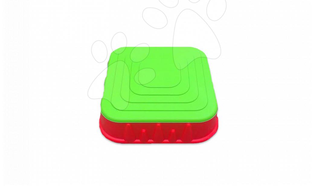 Pieskoviská pre deti - Pieskovisko Starplast štvorcové s krytom objem 60 litrov červeno-zelené od 24 mes