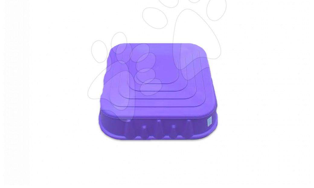 Pieskoviská pre deti - Pieskovisko Starplast štvorec s krytom objem 60 litrov fialové od 24 mes