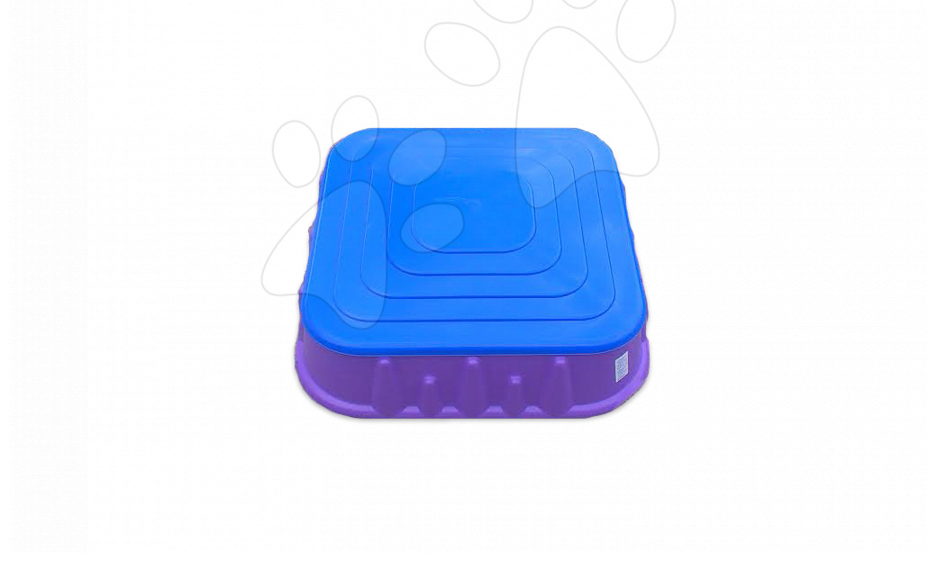 Pieskoviská pre deti - Pieskovisko Starplast štvorcové s krytom objem 60 litrov fialovo-modré od 24 mes