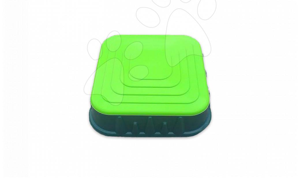 Pieskoviská pre deti - Pieskovisko Starplast štvorcové s krytom objem 60 litrov zelené od 24 mes