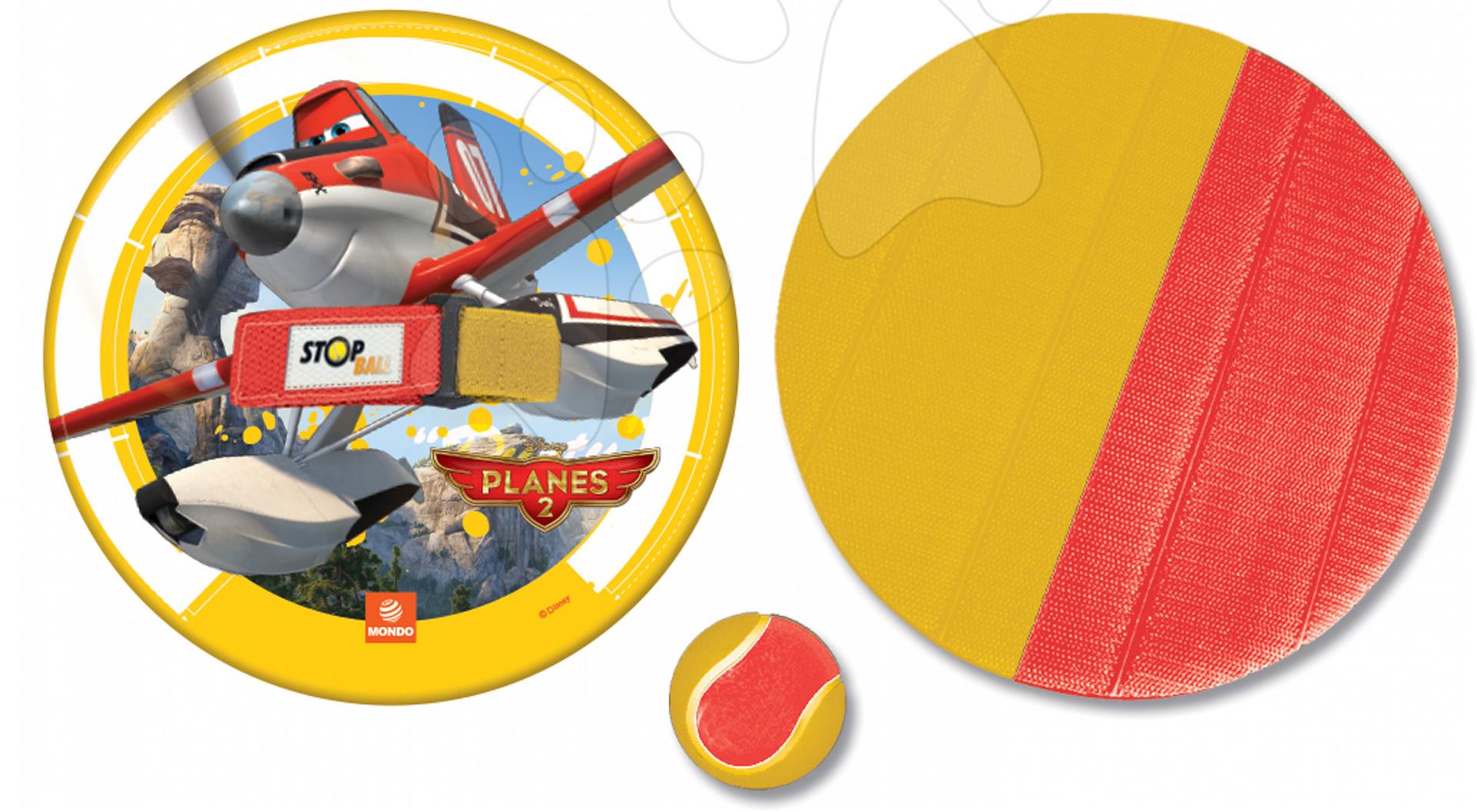 Športové hry pre najmenších - Hra Lietadlá Stop Ball Mondo na suchý zips