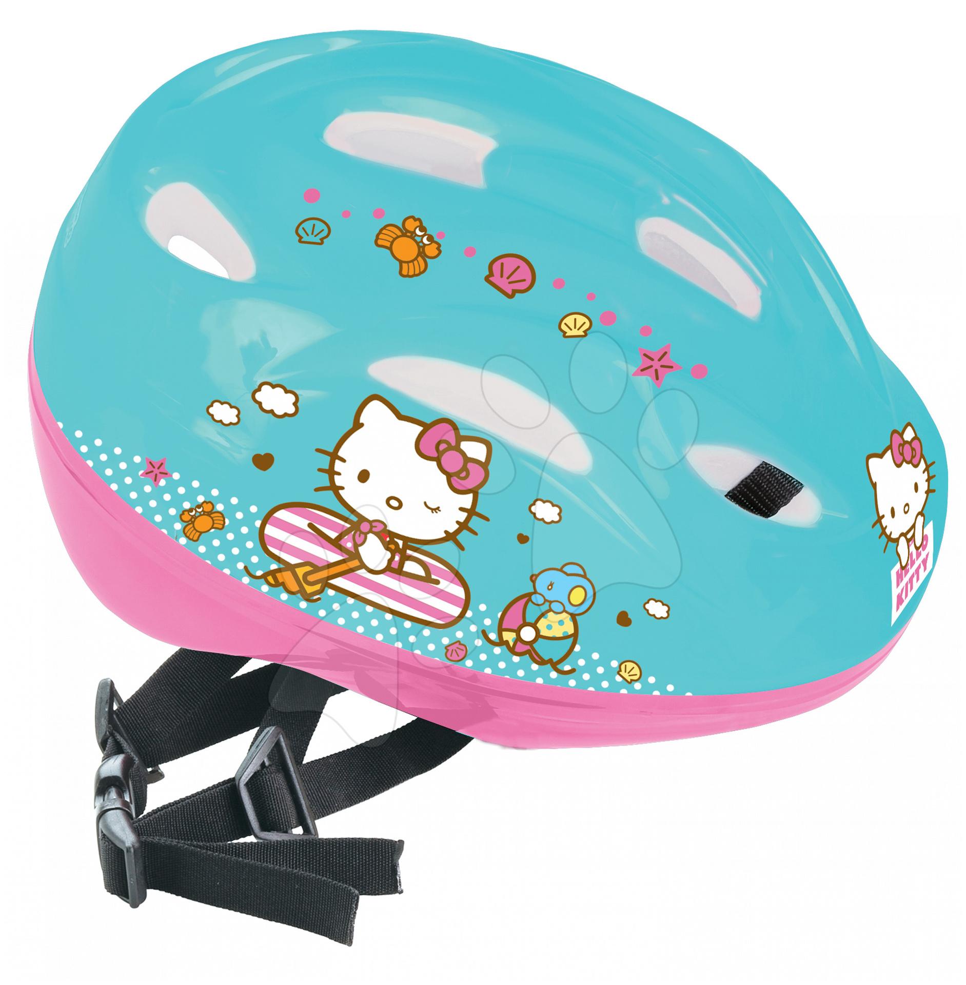 Staré položky - Prilba Hello Kitty Mondo veľkosť 52-56 tyrkysovo-ružová