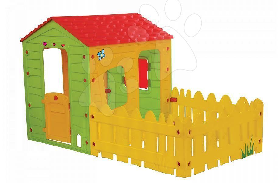 Domčeky pre deti - Domček Fun Farm Starplast s plotom a záhradkou od 24 mes