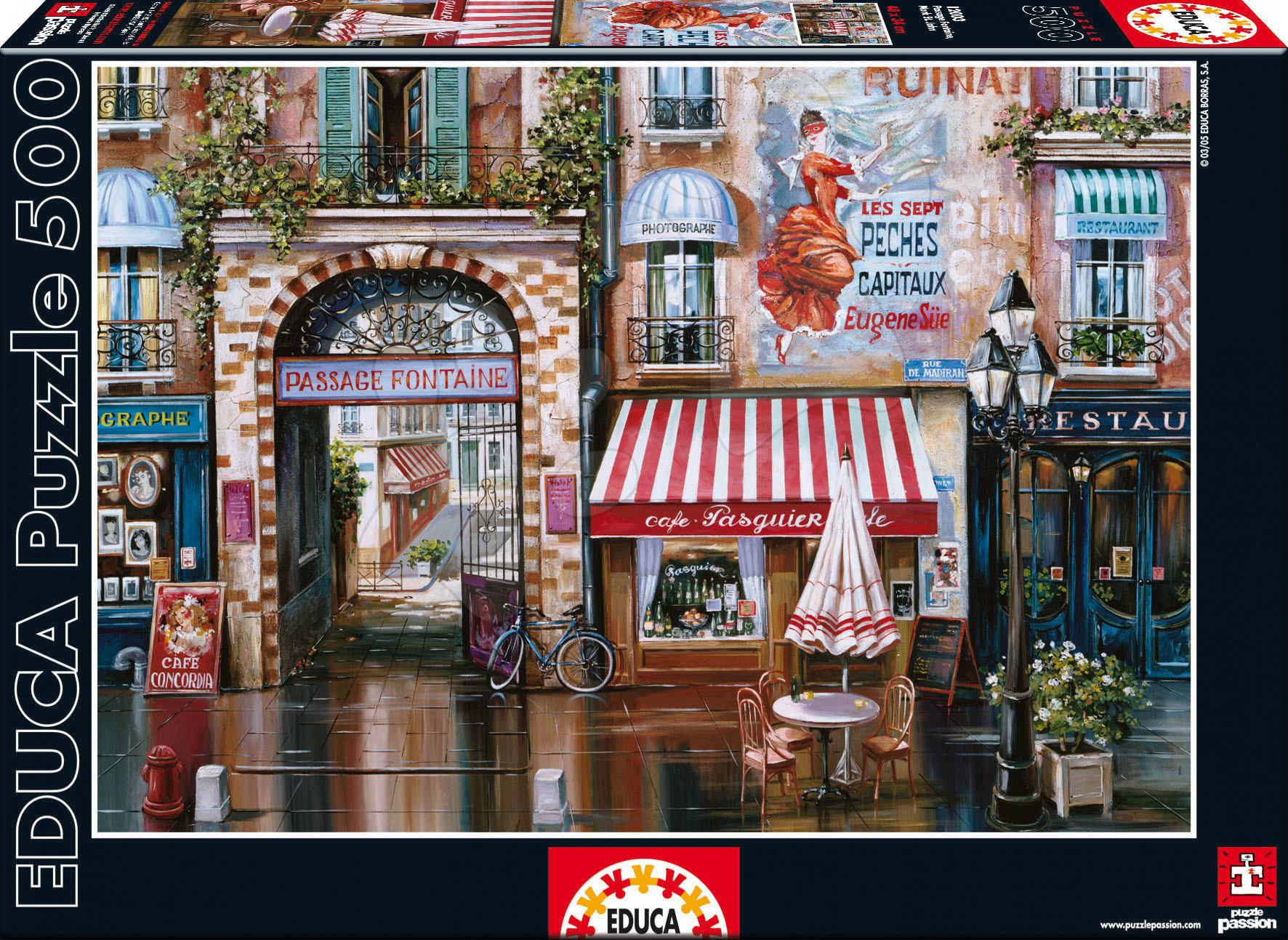 Puzzle 500 dílků - Puzzle Viktor Shvaiko Passage Fontaine Educa 500 dílků od 11 let