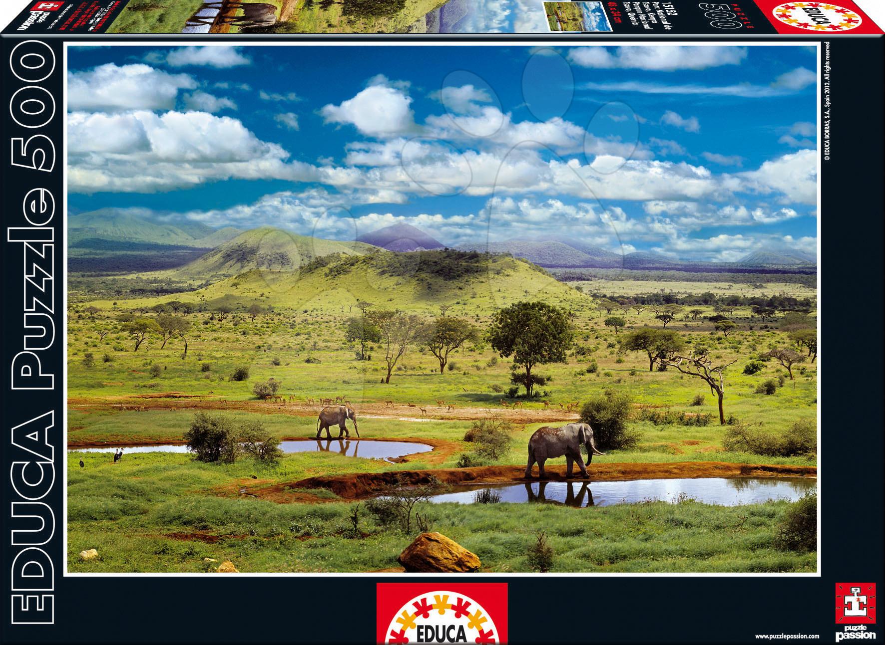 Puzzle 500 dielne - Puzzle Národný park Tsavo, Kenya Educa 500 dielov od 11 rokov